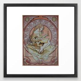 The Candlelight Reader Framed Art Print