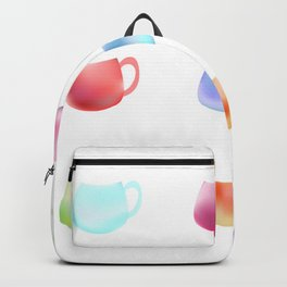 Colorful watercolor cups Backpack
