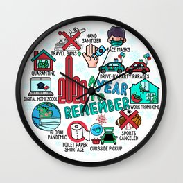 2020 Highlights - A Year to Remember  Wall Clock