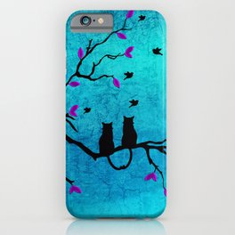 Lovecats - Together forever iPhone Case