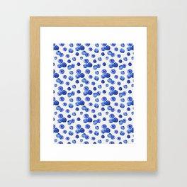 Indigo Blueberries Framed Art Print
