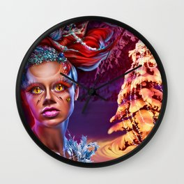 Merry wraith Xmas Wall Clock