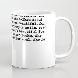 F.Scott Fitzgerald - She was beautiful Coffee Mug