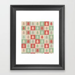 AFE Holiday Trees Framed Art Print