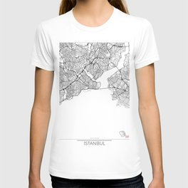 Istanbul Map White T-shirt