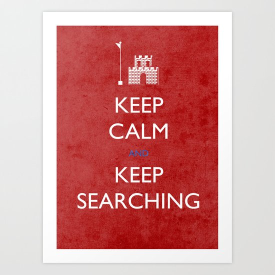 KEEP CALM mario Art Print