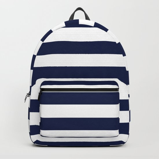 Nautical Navy Blue and White Stripes by followmeinstead