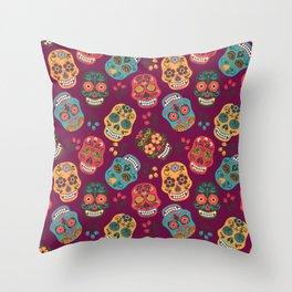 Sugar Skull Pattern Throw Pillow