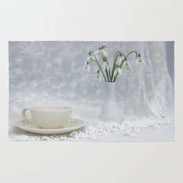 Snowdrops at Teatime Rug