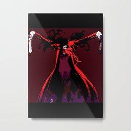 Alucard Pixel Art Metal Print