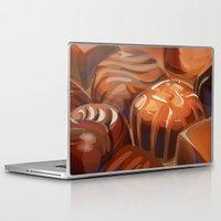 chocolate Laptop & iPad Skins featuring Chocolate by Amalia-Anne