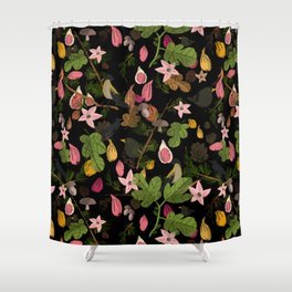 Fig and birds Shower Curtain