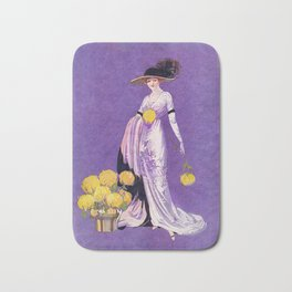 Vintage Lady from 1912 Bath Mat