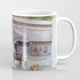 Old Horse Barn Coffee Mug