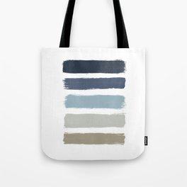 Blue & Taupe Stripes Tote Bag