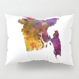 Bangladesh in watercolor Pillow Sham