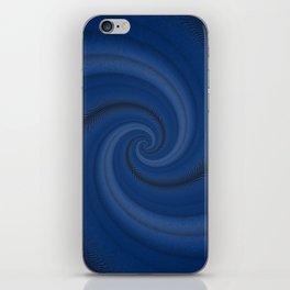 Endless blue swirl iPhone Skin