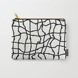 Melting Grid Pattern Carry-All Pouch