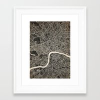 london map Framed Art Prints featuring London map by NJ-Illustrations