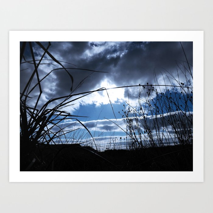 Blue up Ahead Art Print