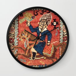 Bijar Kurdish Double Bag Print Wall Clock