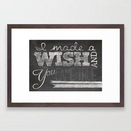 Made A Wish Framed Art Print
