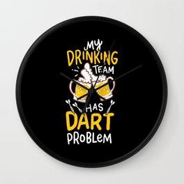 Dart Player T-Shirt aim beer throw goal gift Wall Clock
