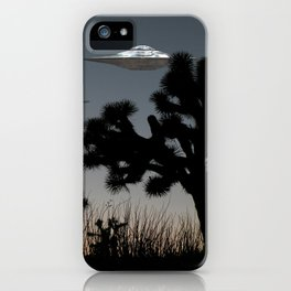 Joshua Tree Space Invasion by C.Reyes iPhone Case