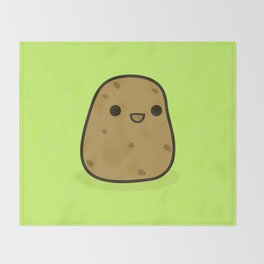 Cute potato Throw Blanket