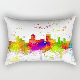 Anchorage, Alaska Skyline - Line & Ink 3 Rectangular Pillow