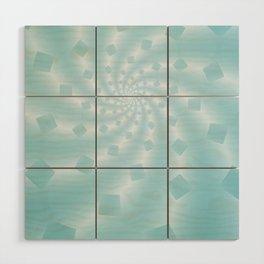 Tess Fractal in Frozen Blue Wood Wall Art