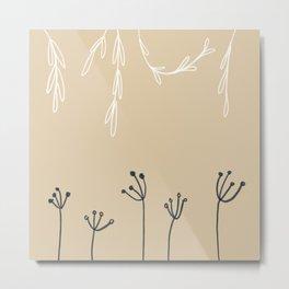 Wreathe & Flowers Metal Print