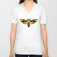 silence of the lambs V-neck T-shirts featuring The Silence of the Lambs by FilmsQuiz