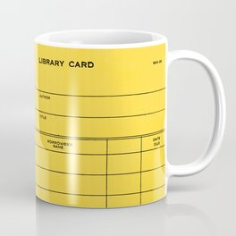 Library Card BSS 28 Yellow Coffee Mug