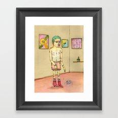 Inseguridad por comparación Framed Art Print