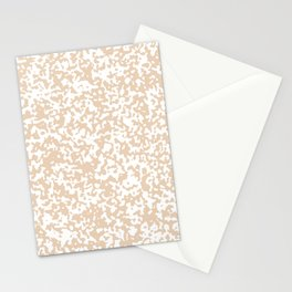 Small Spots - White and Pastel Brown Stationery Cards