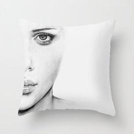 Barely Scarlett  Throw Pillow