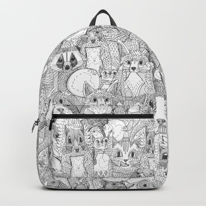 crazy cross stitch critters Backpack
