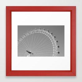 London Eye - Black and White Framed Art Print