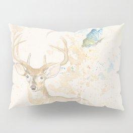 Deer and butterfly Pillow Sham