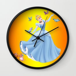 beautiful princess Wall Clock