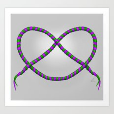 Knot - Green & Purple Art Print