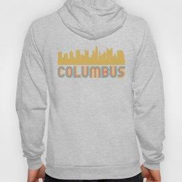 Vintage Style Columbus Ohio Skyline Hoody