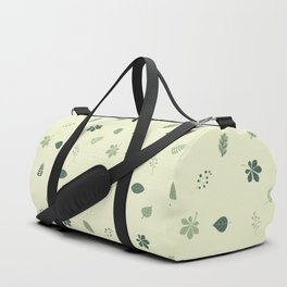 Dotted Leaves- Teal Duffle Bag