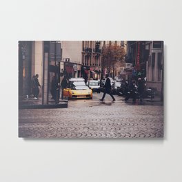 ITALIAN - YELLOW - MAN - STREETS - SUPERCAR - PHOTOGRAPHY Metal Print