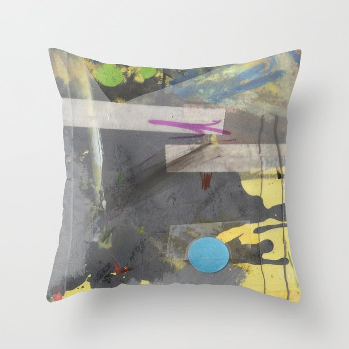 Blue Dot Throw Pillow By Erikhoff