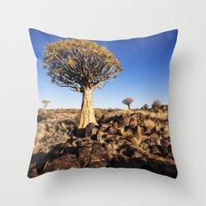 Quiver Trees in Namibia Throw Pillow