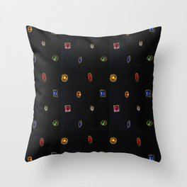80's Byzantine Jewels Throw Pillow