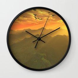 Misty mornings in Neverland Wall Clock