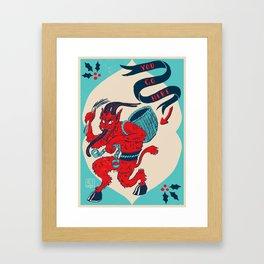 Krampusnacht 2014 Framed Art Print